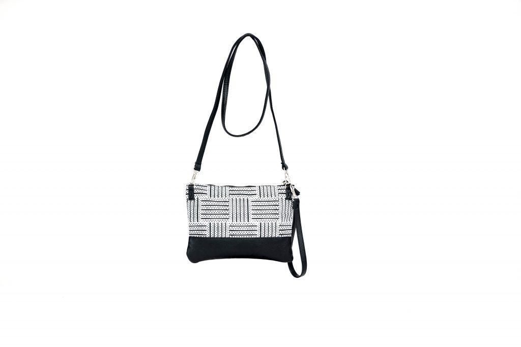 Black and White Crossbody Bag