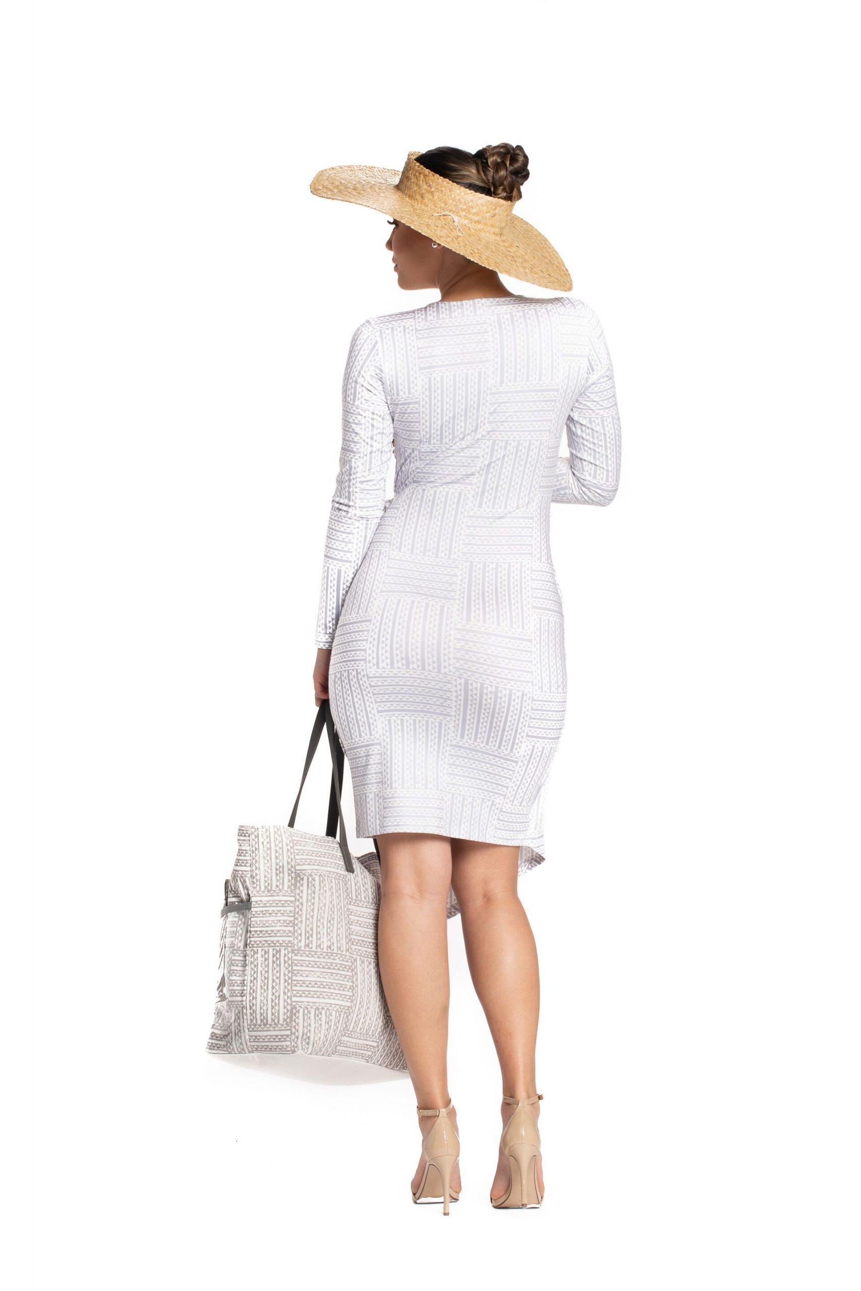 Model wearing Kawelu Faux Wrap - Back View