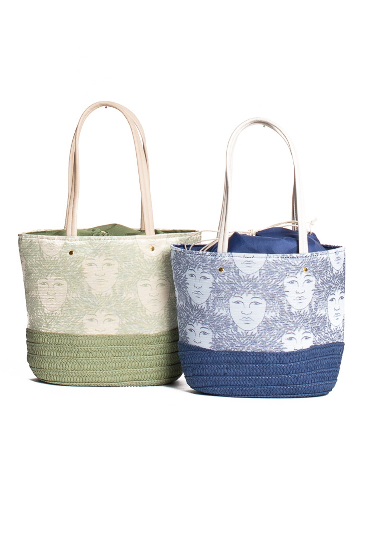 Akolea Tote in Green and Blue