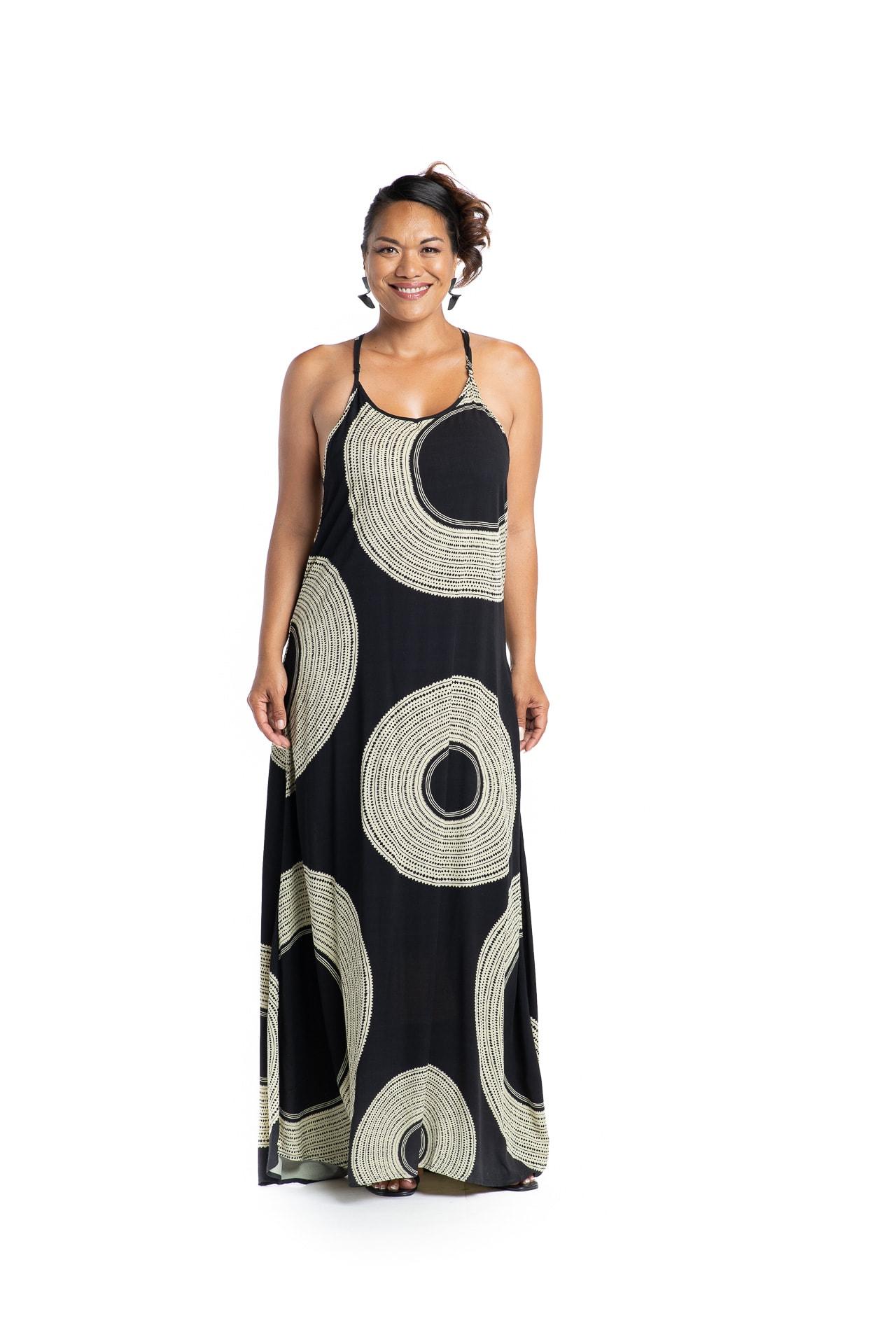 Model wearing Haili Dress - Front View