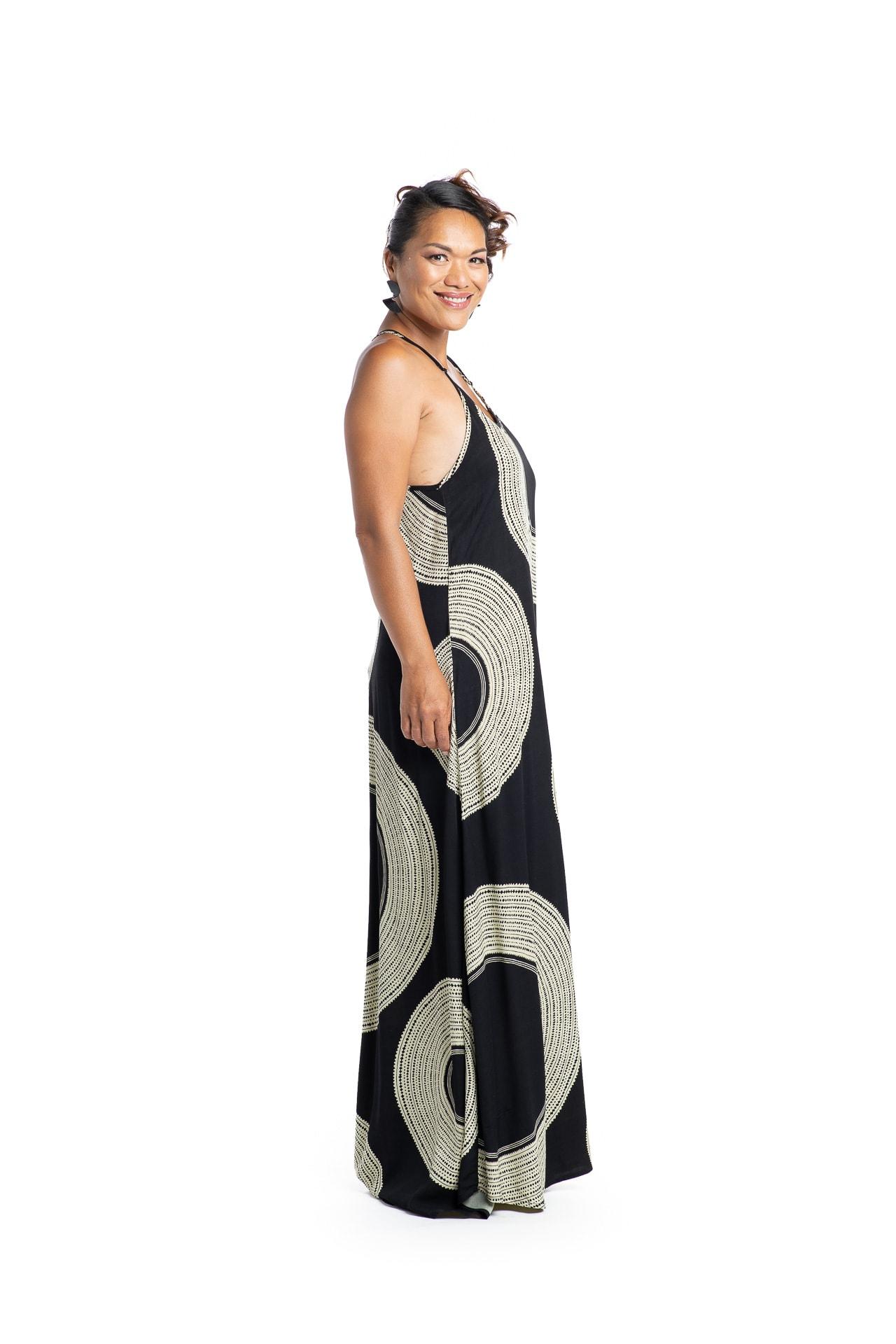 Model wearing Haili Dress - Side View