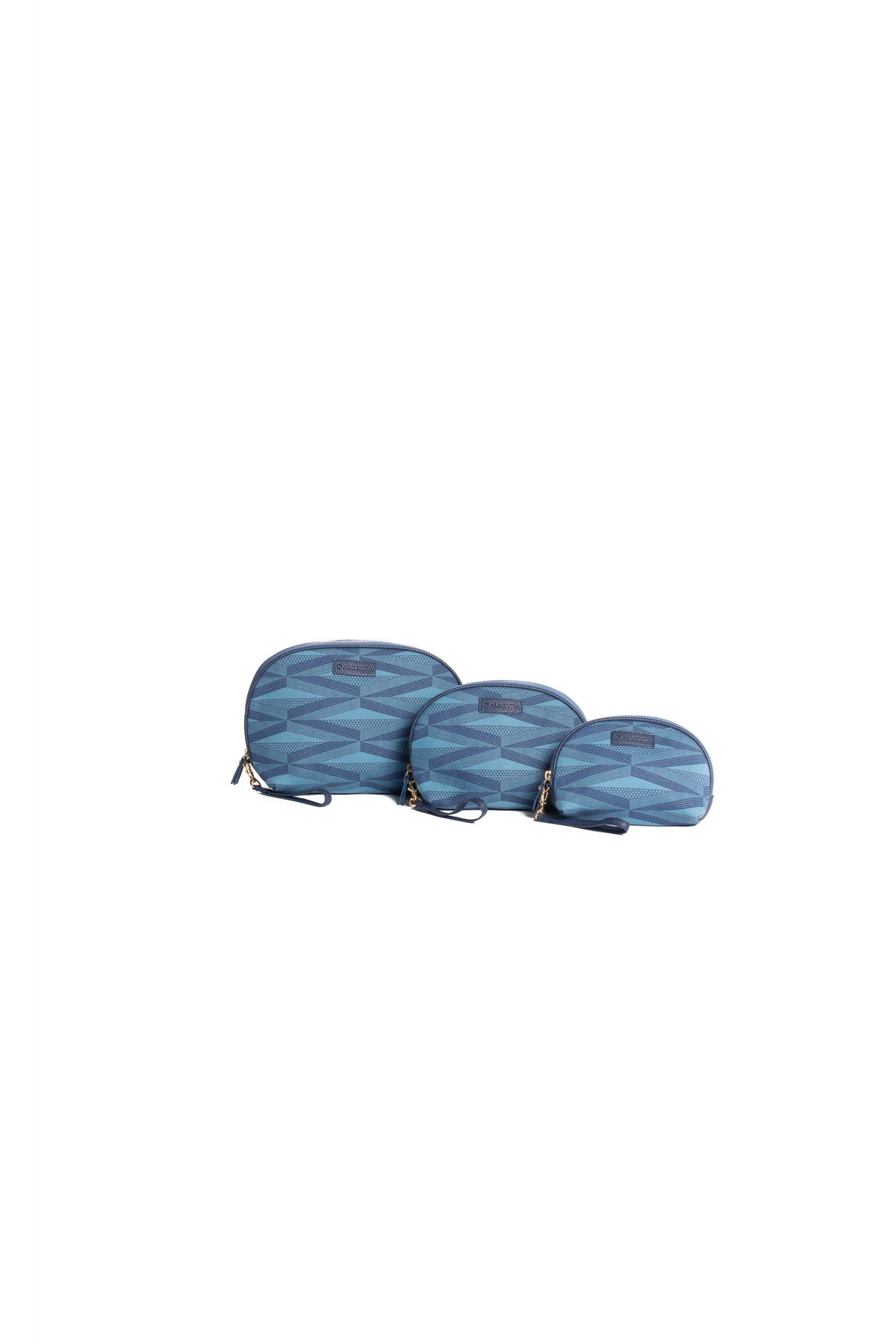 Kanaloa Half Moon Clutch Set in Blue