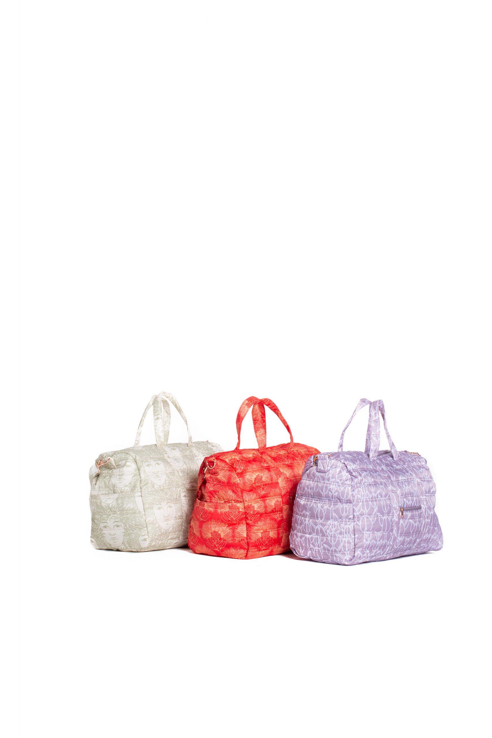 Laulea Bag Trio in Red, Green, and Purple