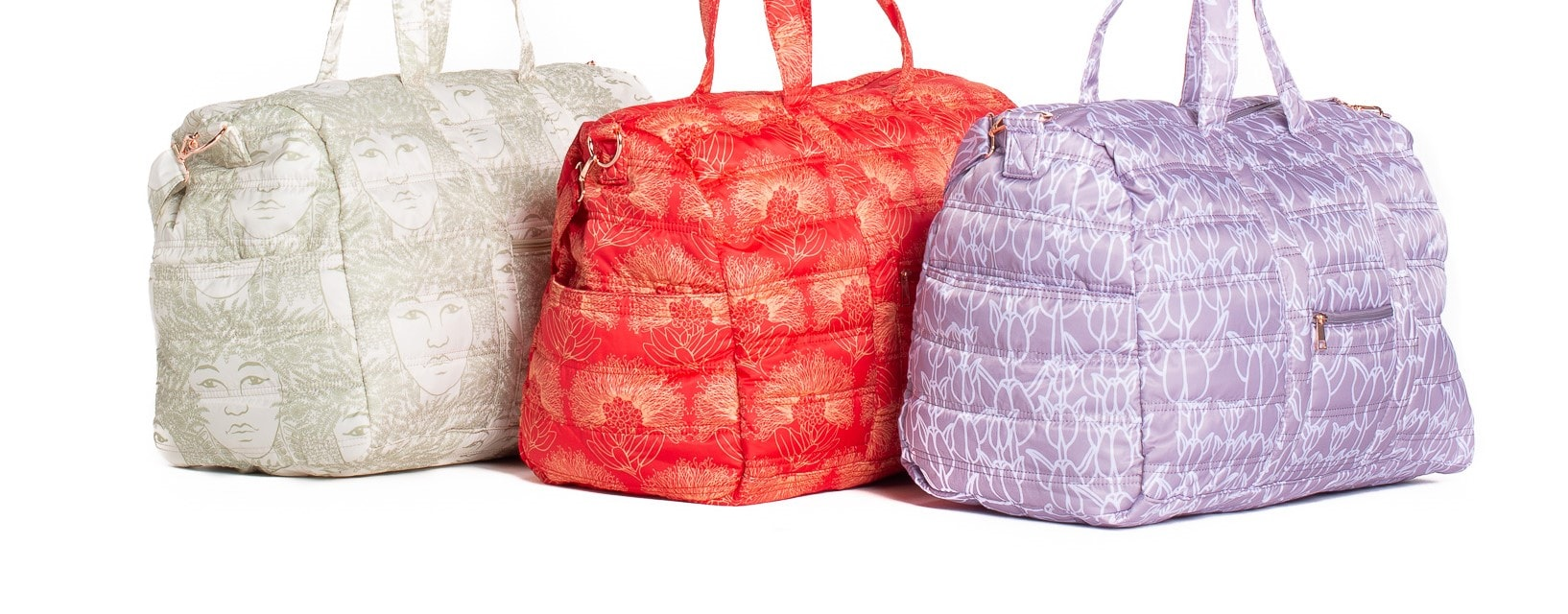 Laulea Bags Trio - Red, Green, and Purple