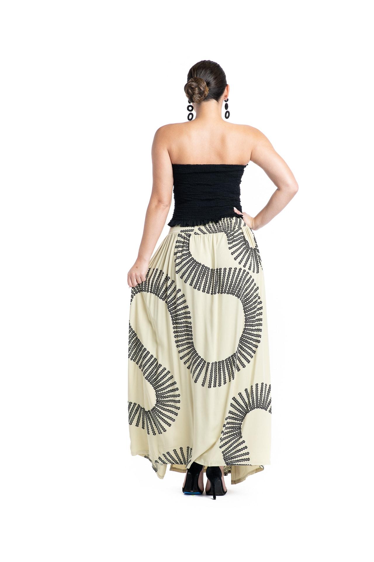 Model wearing Maoli Skirt - Back View