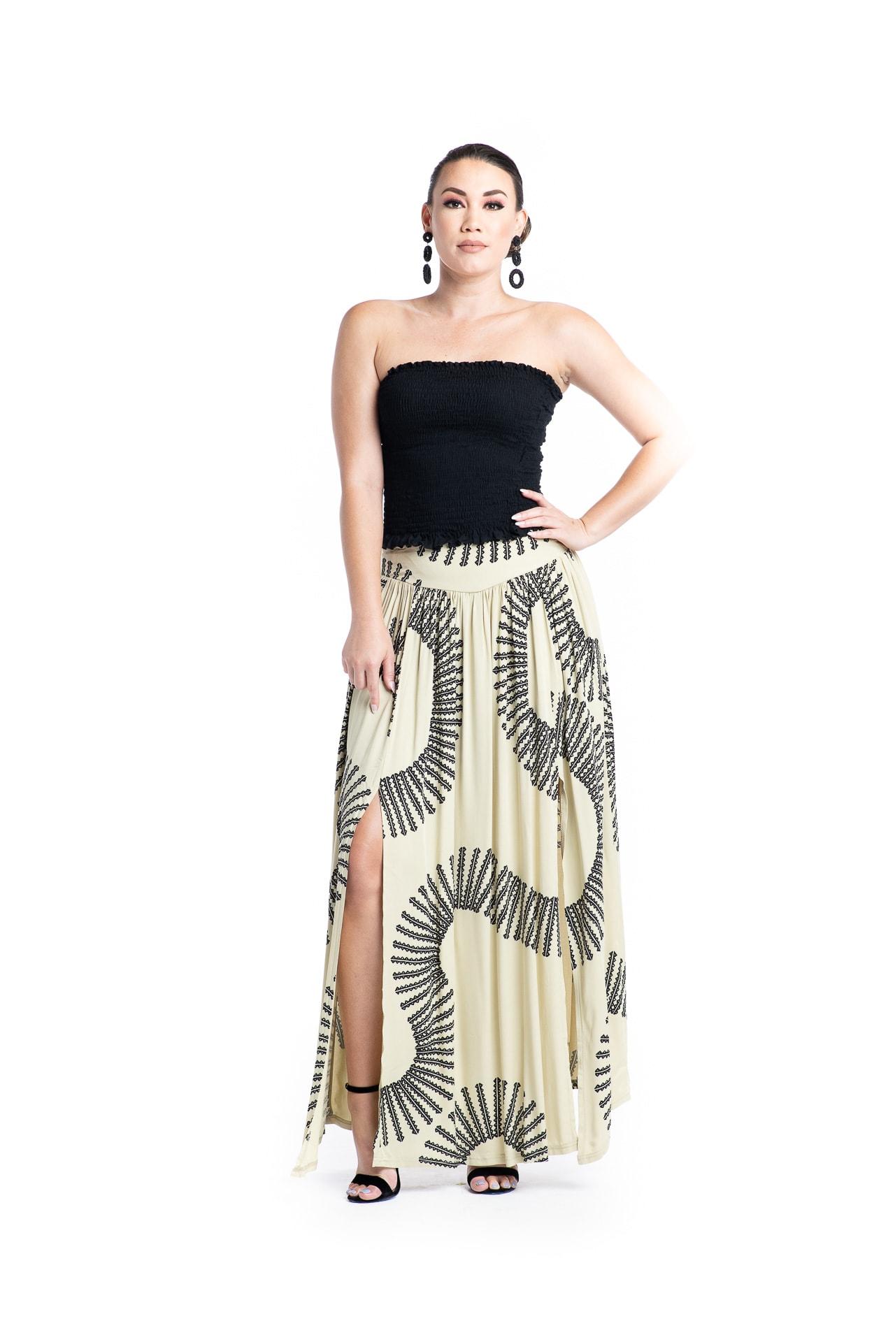 Model wearing Maoli Skirt - Front View