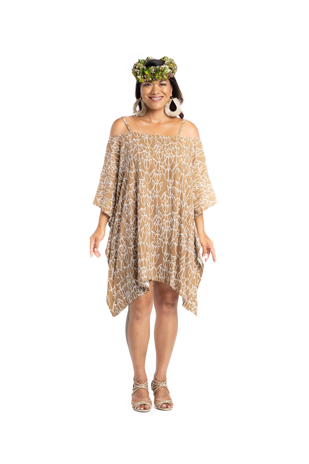 Model wearing Malama Top - Front View