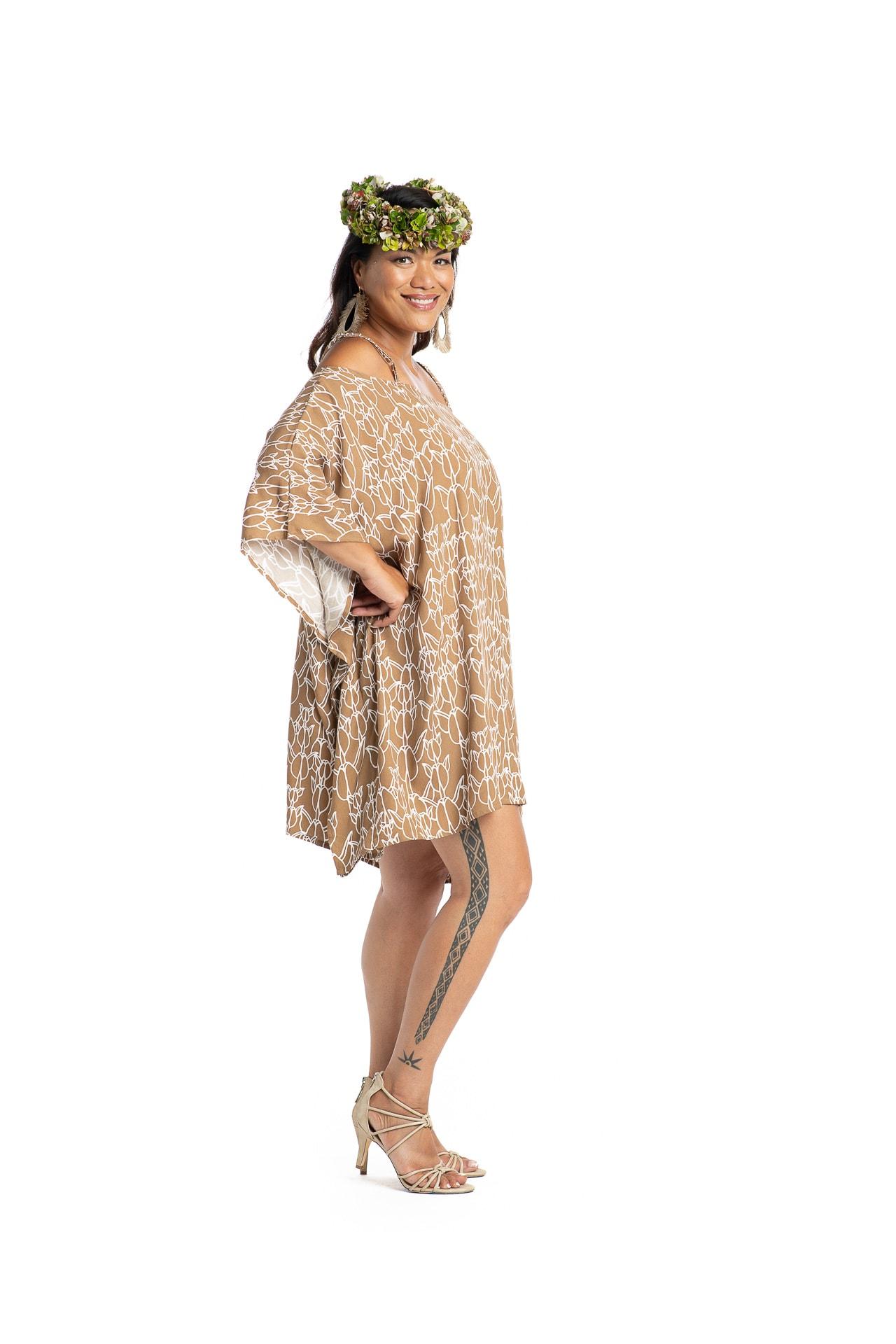 Model wearing Malama Top - Side View