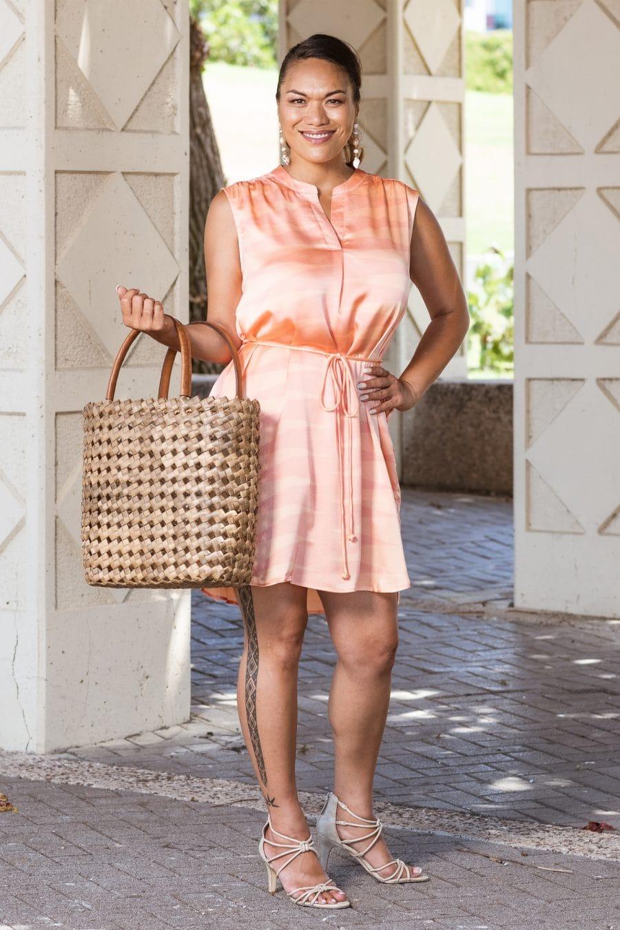 Model wearing Lina Dress