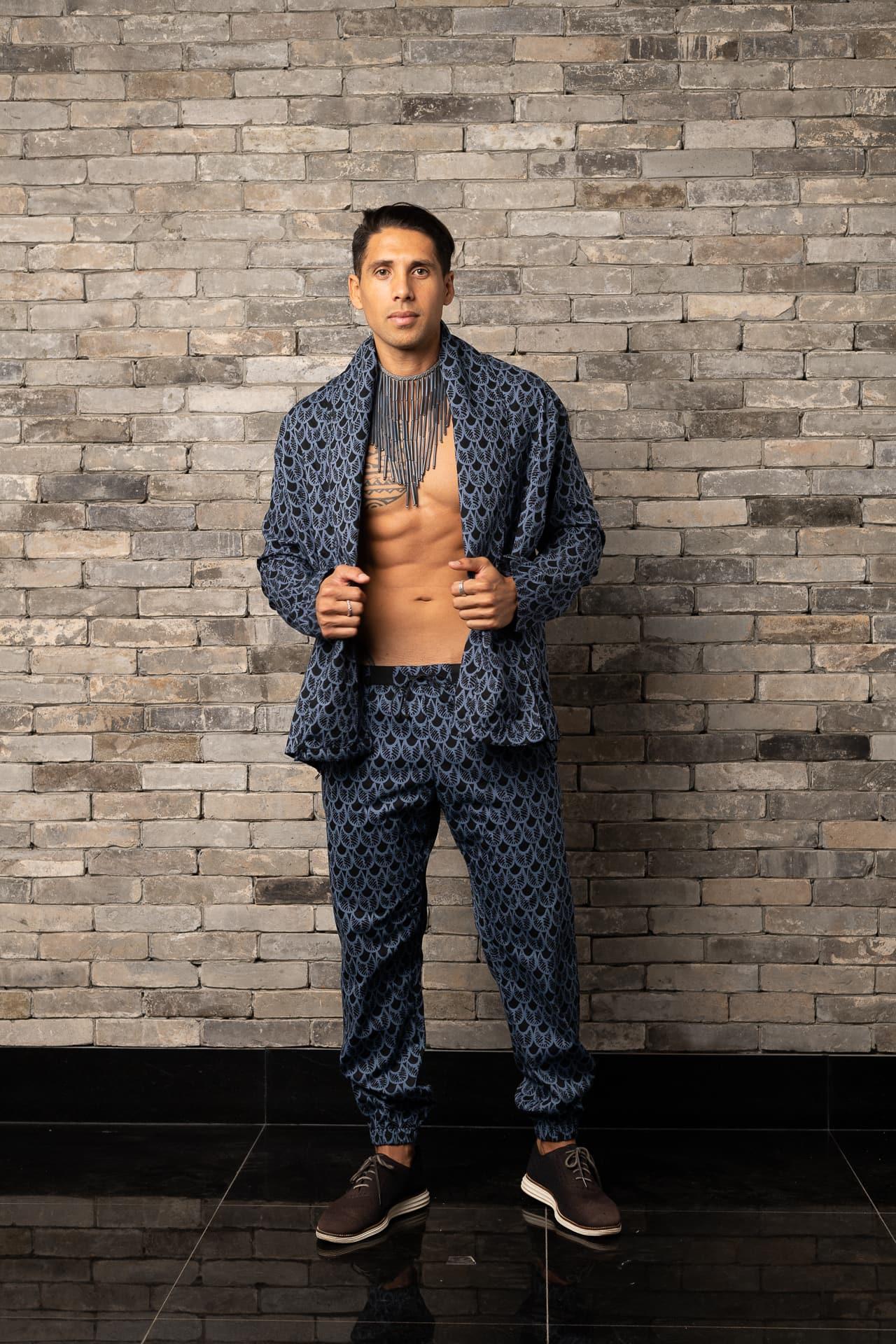 Male model wearing Mohala Jacket