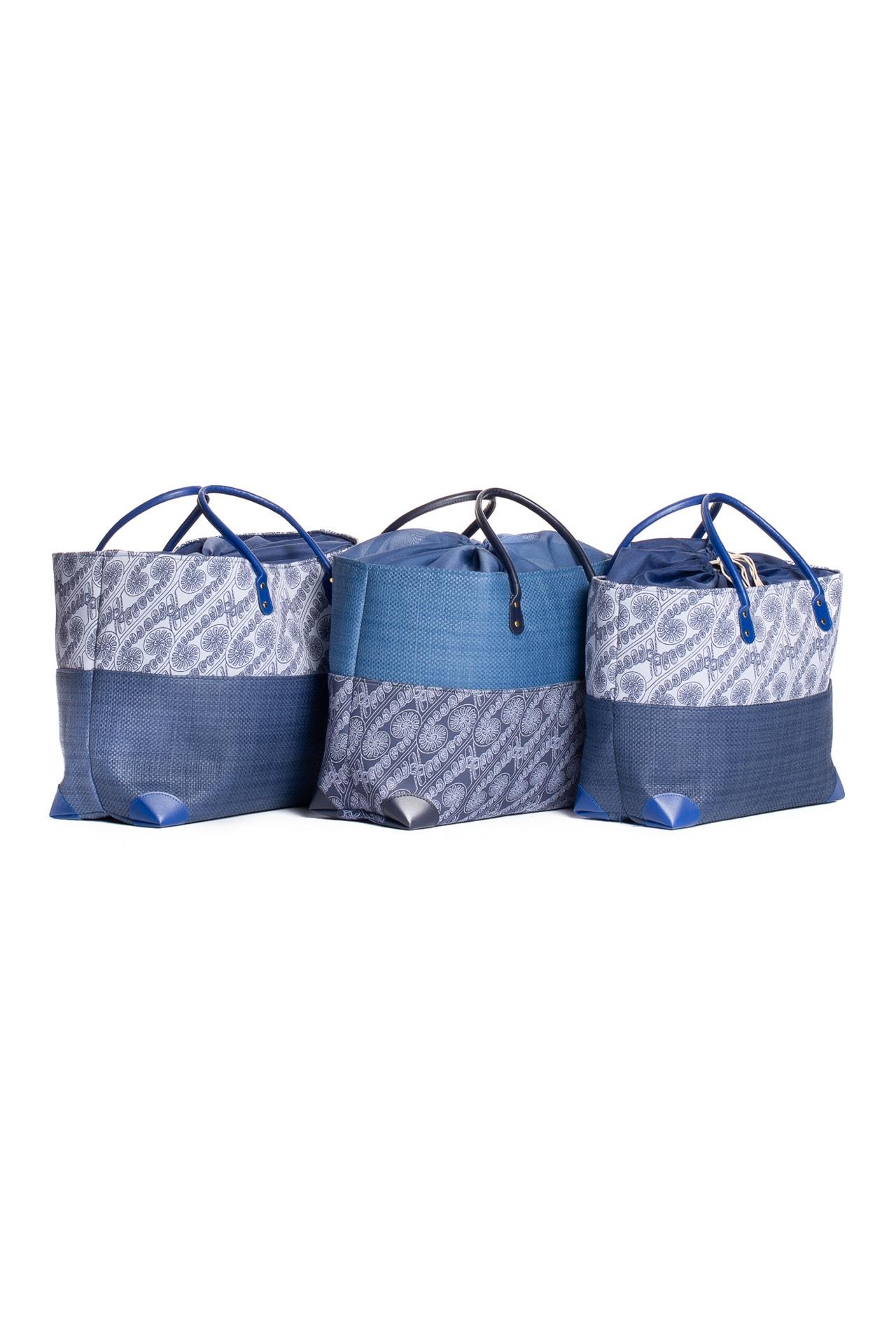 Hula Trio Bag Set in Blue Amau