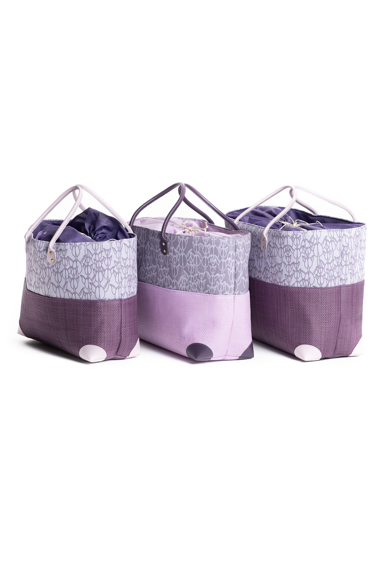 Hula Trio Bag Set in Purple Kapualiko