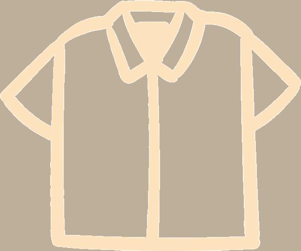 Clothing Icon on Transparent Background