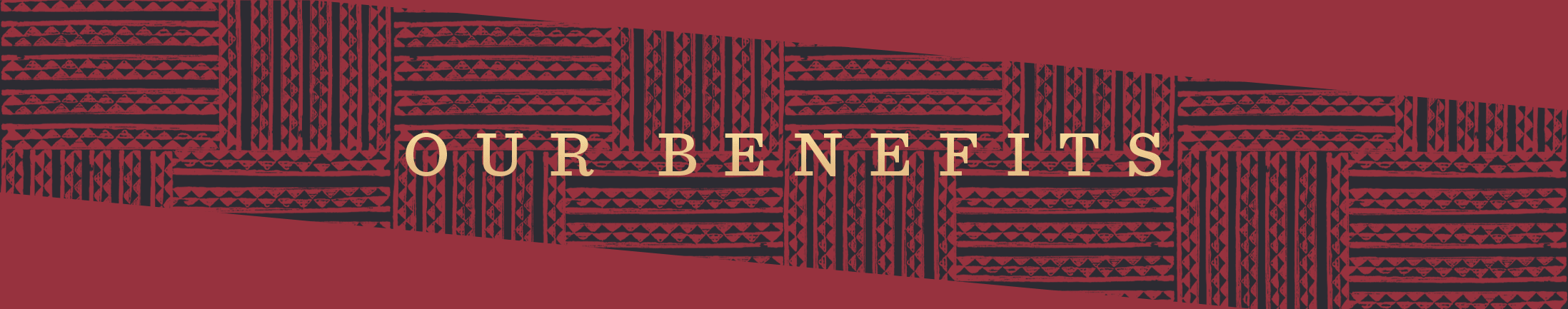 Red Our Benefits Banner