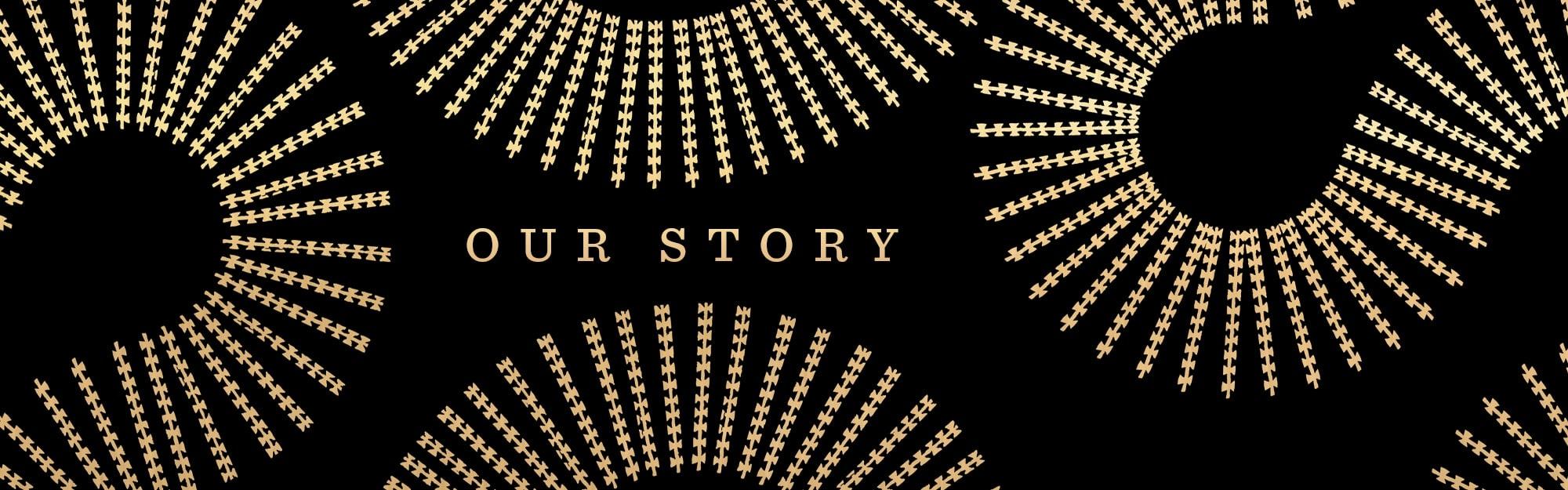 Our Story Banner on Black Background