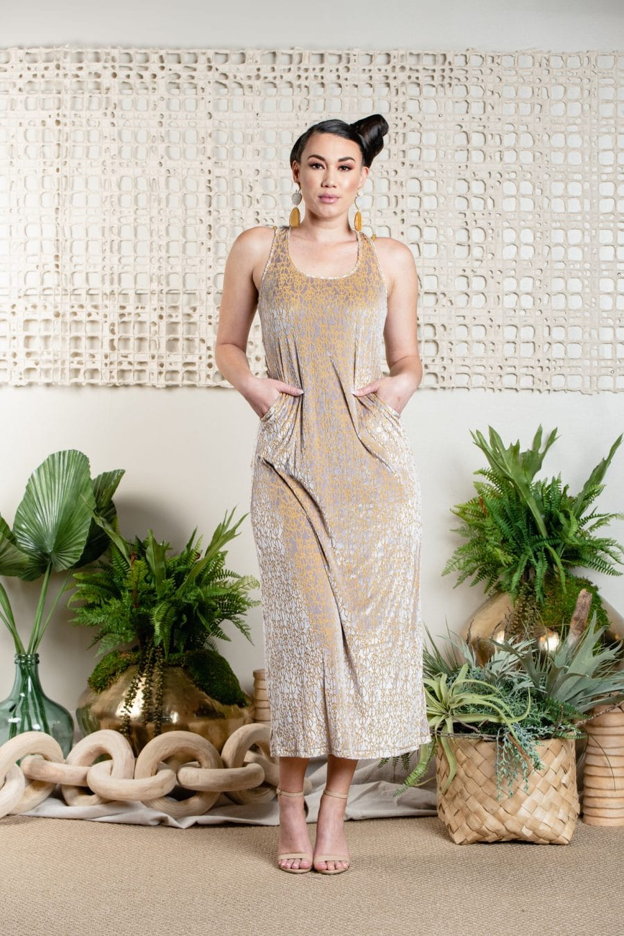 Model wearing KEAHI ENAENA - Front View