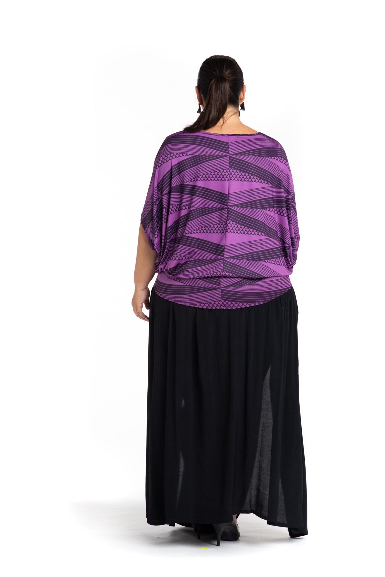 Model wearing Kealoha Top in Purple - Back View