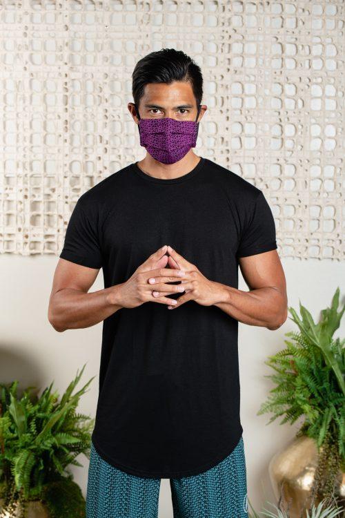 Model wearing Keiki Malama Mask