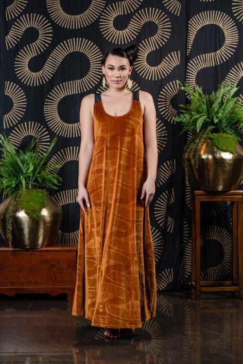 Model wearing Waikiki Maxi Dress - Front View