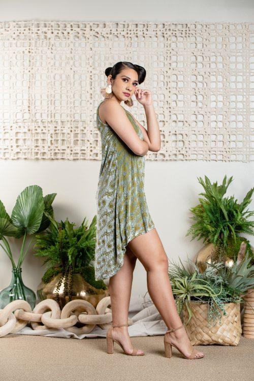 Model wearing Waikoloa Hi Low - Side View