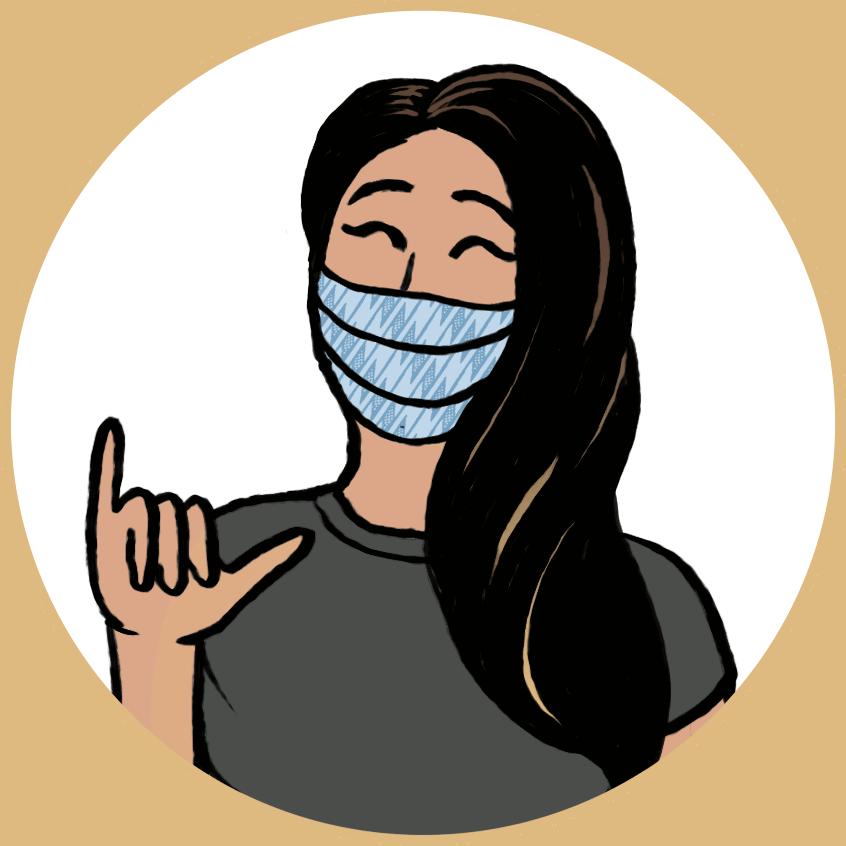 Cartoon Mask Icon on Transparent Background