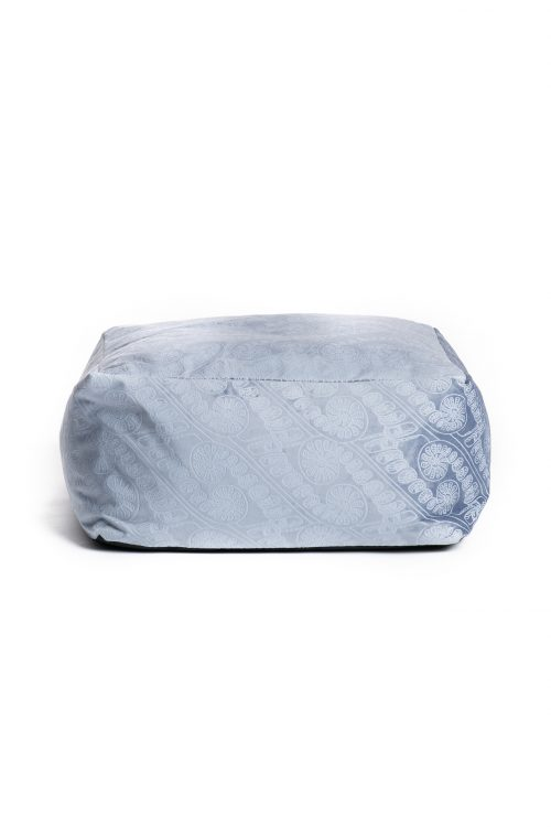 Square Bean Bag in Halogen Blue/Folkstone Grey