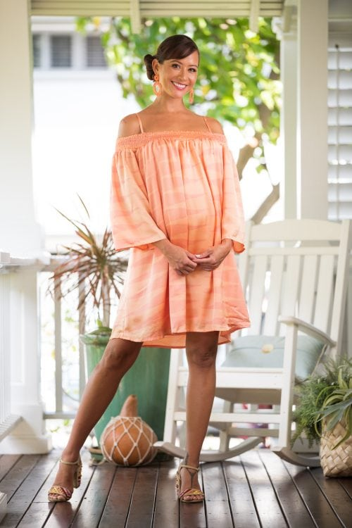 Model wearing Kauai Dress - Front View