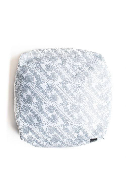 Square bean bag- Amau Folkstone grey-Halogen blue