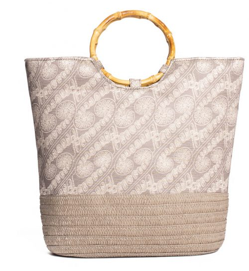 Ohe Handbag in Gingersnap and White Swan