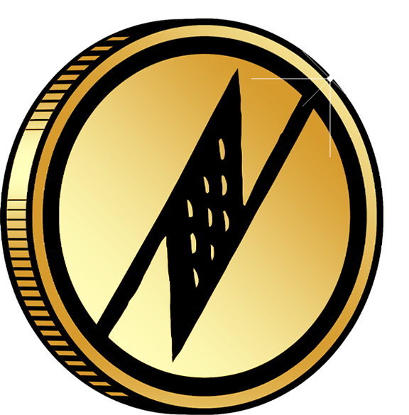 Manaola Rewards Gold Coin Icon on Transparent Background