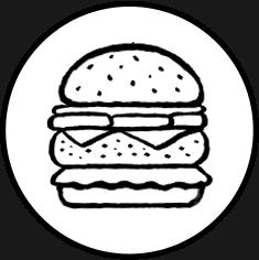 American Hamburger Icon on Transparent Background