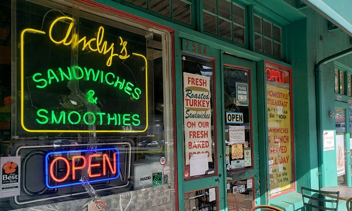 Andy's Sandwiches and Smoothies Storefront
