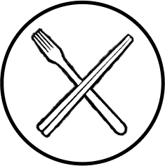 Asian Fusion Utensils Icon on Transparent Background