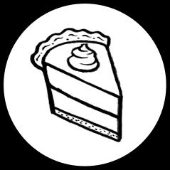 Dessert Pie Icon on Transparent Background