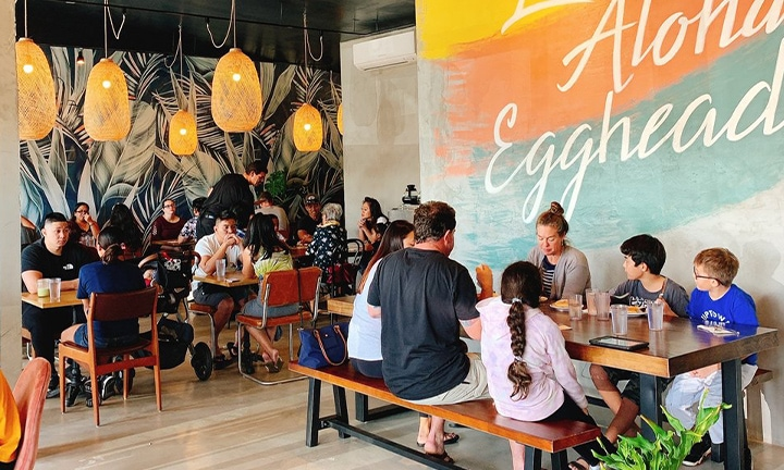 Inside of Egghead Cafe