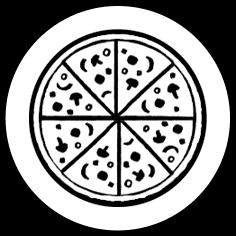 Italian Pizza Icon on Transparent Background