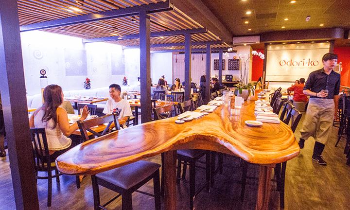 Inside of Odori Ko Restaurant