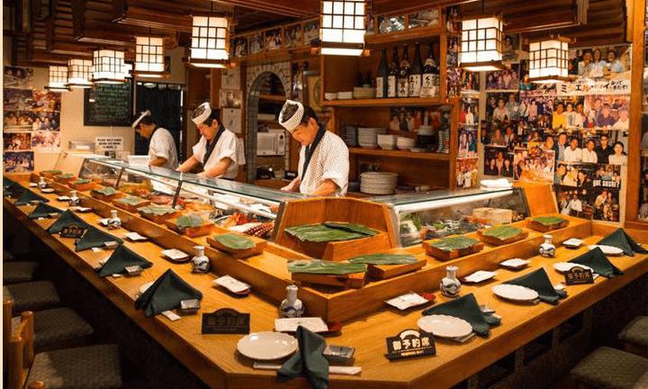 Inside of Yanagi Sushi