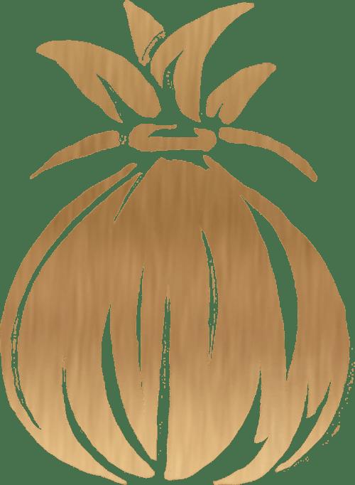 Gold Hawaiian Icon on Transparent Background