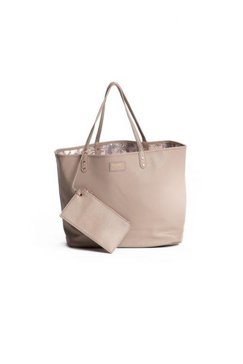 LaukaPalili Bag in Apricot Sherbert Gingersnap Kaleilehua Pattern