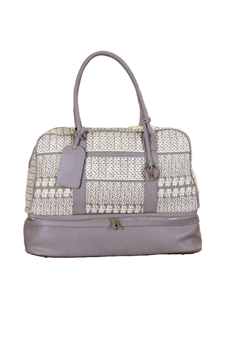 Mokulele Weekender Bag in Stone Akoakoa Pattern