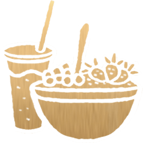 Gold Smoothie Icon on Transparent Background
