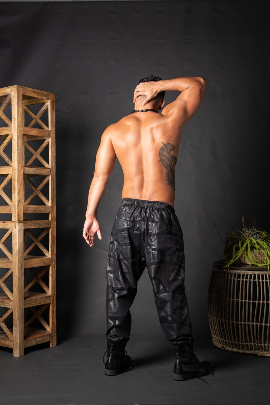Male model wearing Ibiza Pant - Back View